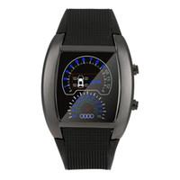 medidor hombre al por mayor-Xiniu moda hombre relojes aviación Turbo Dial Flash LED reloj Mens Sports Car Meter relojes reloj hombre # 5M
