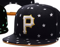 Wholesale free shopping online - Hot Selling Classic Online Shopping Pittsburgh Pirates Street Fitted Fashion Hat P Letters Snapback Cap Men Women Basketball Hip Pop