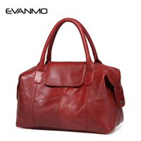 Wholesale new boston handbag genuine leather for sale - Group buy 2018 New Women Genuine Leather Boston Bag Europe Style Simple Handbag Fashion Trend Shoulder Bag office lady Tote handbag D18101303