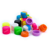 kuru toplar toptan satış-2ML Round Silicone Container Jars Dabs wax containers dry herb FDA Silicone containers Box Vaporizer for concentrate wax oil Ball Containers