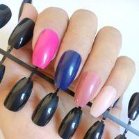 gefälschte nägel farben großhandel-Flat Top Gefälschte Nägel Farben Sarg Nagel Acryl Stiletto Nägel Full Cover Falsche DIY Maniküre Werkzeug