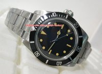 Wholesale vintage sapphire - Luxury AAA+ Quality Watch Vintage 40mm 5513 Black Maxi Dial Stainless Steel Asia 2813 Movement Mechanical Automatic Mens Watch Watches