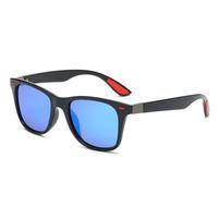 gafas de sol azul al por mayor-2019 Clásico gafas de sol polarizadas Hombres Movimiento Diseñador Gafas de sol Mujeres Vintage Anti-UV Driver Negro Azul Gafas Gafas