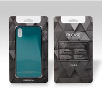 ingrosso imballaggio personalizzato della cassa del telefono-Scatola d'imballaggio al minuto all'ingrosso dei 100 pc per la scatola su ordinazione di caso del telefono per Iphone 8 Note8 Iphone x Contenitore di imballaggio della copertura del telefono cellulare universale