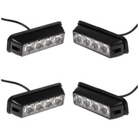 Wholesale Red Led Grill Lights - 4x12 24v Black Recovery Strobe 4LED Lights Orange Grill Breakdown Flashing Lamp red