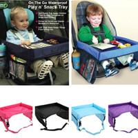 ingrosso vecchio giocattolo aereo-Baby Toddlers Cintura di sicurezza per auto 5 colori viaggi vassoio vassoio pieghevole impermeabile seggiolino auto copertura bimbo buggy passeggino snack T1I340