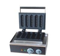 birim makine toptan satış-CE 5 adet hot dog lolipop waffle makinesi waffle makinesi Fransız sosis makinesi ile ücretsiz nakliye 2 adet / lot Kaliteli