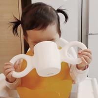 ingrosso grande impara-Creativo Unbreakable Kids cup Cute Cartoon Gispen Dombo Cup I bambini imparano a bere la tazza di caramelle colori grandi orecchie bambini che bevono bicchiere BPA Free