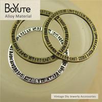 Wholesale bronze bracelet accessories for sale - BoYuTe Pieces MM Antique Bronze Silver Plated Zinc Alloy Circle Charms Pendants Diy Bracelets Necklace Jewelry Accessories