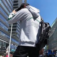 ingrosso cappotto di colore grigio-2018 primavera e autunno nuovo maglione da uomo casual coreano stampato lettera ricamo con cappuccio colore nero bianco e grigio girocollo donne cappotto
