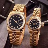 Wholesale classic watch mechanical woman - Luxury Brand Couples Style AAA Classic Automatic Movement Mechanical Fashion Men Mens Women Womens Watch Watches Wristwatch