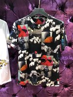 Wholesale blending oil paints - 2018 Newest Men T shirt Fashion Hip Hop Casual t-shirt Design Oil painting figure Printed T-Shirts