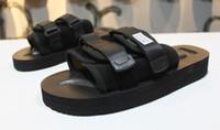 zapatillas de seda roja al por mayor-Nuevo Llegado Rojo de alta calidad CLOT X SUICOKE OG-056STU MOTO-STU Summer Trip Fest Sandalia de seda negra Sandalias SUICOKE KISEEOK-044V Zapatillas