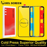 Wholesale 4 in Refurbish Replacement Screen Original Front Glass Panel Outer Glass Lens OCA Middle Frame Bezel For iPhone X DHL