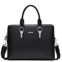 Wholesale business briefcases for men designer resale online - Designer Men s Leather Briefcase Bag for Male Crossbody Bags Travel Large Handbag for Laptop Business Shoulder Bag