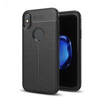 Wholesale leather case for sale - Litchi Leather Pattern Soft TPU Cases For IPhone XR XS MAX S Plus Samsung S9 S8 Note