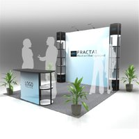 Wholesale Standard ft ft Exhibition Stand Trade Fair Display Backwall Economic Company Trade Show Booth With Wheeled Wood Case E01B5