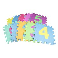 Wholesale Eva Puzzle Carpet - 10PCS Set EVA Foam Baby Puzzle Playmats Flooring Toddler Baby Carpet Mats Soft Rug Baby Floor Crawling Pads for Education Gifts
