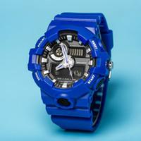 освещение спортивных часов оптовых-Высокое качество новый стиль оригинальный цвет GA700 хронограф спорт мужские часы автоматический свет шокирующий водонепроницаемый G спортивные часы