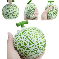 Wholesale Fruit Packaging Wholesalers - Hami Melon Squishy Jumbo Fruit Slow Rising 10CM Retail Package Phone Straps Scented Pendant Bread Cake Fun Kid Toy Gift