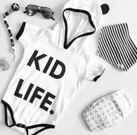 детская одежда оптовых-Детские ползунки Панда черный белый новорожденных мальчиков девочек одежда толстовки дети комбинезон Комбинезон комбинезон наряд 0-24 м