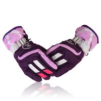 Wholesale golf twill for sale - Group buy 8 Colors Winter Ski Gloves Snowboard Waterproof Warm Snow Gloves Outdoor Shoveling Motorcycle Riding Gloves For Women Men Xams Gift H904R
