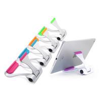 suporte de carro de montagem universal mini venda por atacado-A tabuleta dobrável universal do telefone do Multi-Ângulo e o suporte do telefone estão o mini suporte da montagem do Desktop para o iphone / ipad