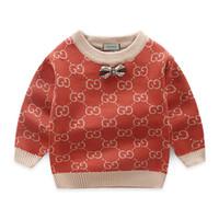 25472c2db Crianças camisola catamite outono roupas de vestuário das crianças novo  padrão coreano moda em torno do pescoço pullover engrossamento