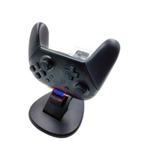 switch charger UK - hot ssle LED Light Indicator Dual USB Controller Charger Charging Dock Station Stand Cradle for Nintend Switch Pro Controller NS Gamepad