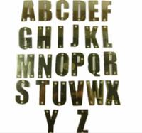 snapbacks de letras acrílicas al por mayor-Sombrero personalizado letras de acrílico 3D Hip Hop de oro NOMBRE DIY Carta adultos PU sombreros Personalidad 5 Gorros de béisbol