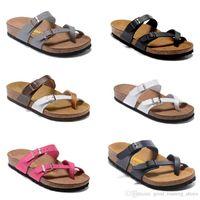 Wholesale Cork Adhesive - 8 color Arizona Hot sell summer Men Women flats sandals Cork slippers unisex casual shoes print mixed colors flip flop size 34-46