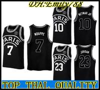 47fec905644 AJ PSG Paris Jersey 23 Michael JD 10 NEYMAY JR 7 MBAPPE Paris Basketball  Jerseys Black Wholesale Mix Order Paris maillot de basket