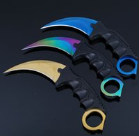 Wholesale wholesale tactical gear - Survival Gear Tactical Karambit Hawkbill Knife with Sheath and Cord - Choose your blade style and functionality