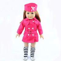 18 inç bebek kıyafeti toptan satış-Toptan Satış - Toptan-18-inç Amerikan kız bebek kıyafetleri elle beyaz gelinlik çocuk Noel hediyesi ücretsiz gönderim W03