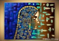 mujer retrato pinturas al óleo al por mayor-100% hecho a mano pintura al óleo sobre lienzo mujer retrato lienzo arte paleta cuchillo textura pesada pintura al óleo pinturas de arte al por mayor decorat