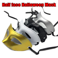 Wholesale white plastic half face masks resale online - Halloween Party Masquerade Mask Facial Venetian mask Carnival Costumes for anonymous Mardi Plastic Half Face Mask