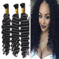 Wholesale wholesale braiding hair for sale online - Hot Sale Huihao product bundles Brazilian Deep Curly Bulk Human Hair For Braiding Unprocessed Braiding Hair Bulk No Weft