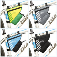 bolsa triangular de bicicleta al por mayor-A prueba de agua Saddle Bike Bags Triángulo trasero Ciclismo Bicycle Seat Tail Bag Accesorios con botella de agua Pocket Riding Equipment 10yq jj