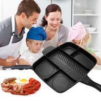 Wholesale oven plates cooking for sale - Group buy 5 In Multi Purpose Separation Pot Fryer Pan Non Stick Grill Fry Oven Meal Skillet Barbecue Plate Roasting Pan Kitchen Cooking Tools