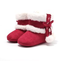 Wholesale eva hair wholesale for sale - Baby Girl Winter Shoe Baby Leisure Bow Hair Ball Snow Boots Toddler Shoes Bota De Inverno Infantil