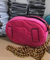 Wholesale Girl Small Mini Leather Bag - Marmont brand bag Autumn And Winter stlye Most popul luxury handbags women bag designer mini messenger bags feminina velvet girl waist bag