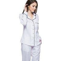 98ac987125 Mujeres Sleep Lounge de manga larga ropa de dormir modal bata pijama ropa  para el hogar camisón albornoz camisón pijamas multicolor