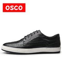 erkekler için en sıcak ayakkabılar toptan satış-OSCO Doğal Inek Deri Kış Erkekler Sıcak Rahat ayakkabılar Warmest yün Casusl tarzı Erkekler Kış Oxford ayakkabı # A3534