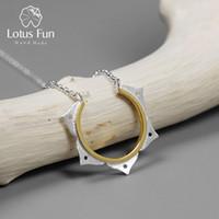 Discount lotus flower jewelry - Lotus Fun Real 925 Sterling Silver Handmade Designer Fine Jewelry Creative Minimalist Lotus Flower Necklace for Women