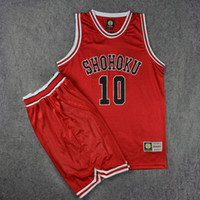 Wholesale clothes game - Anime Slam Dunk Shohoku Basketball Sakuragi Hanamichi Cosplay Uniform Jersey Slam Dunk NO.10 Jersey Power Forward Clothes Sport