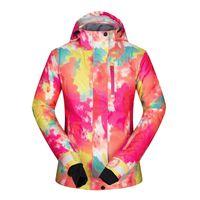 женские куртки бесплатная доставка оптовых-Ski Jacket Women Winter Waterproof Windproof Free Shipping 2018 Snowboard Snow Outdoor Mountain Coat Skiing Jackets Female