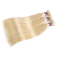Wholesale 3bundles brazilian weave for sale - Hot Sell Blonde Hair Bundles Malaysian Straight Brazilian Peruvian Human Hair Extension inch To inch Hair Weave