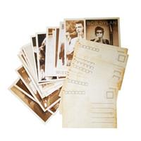conjunto de tarjeta postal al por mayor-32 Unids / pack Vintage Style Estrellas de Cine Poster Dibujo Tarjeta Postal Tarjeta de Navidad Regalo Postales Saludo Decorativo