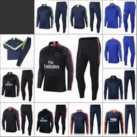 Wholesale quarter long suit jacket for sale - Group buy Long Sleeves Football Training Suit Fly Emirates New Man Fashion Soccer Athletic Wear Jacket Kit High Quality hb Ww