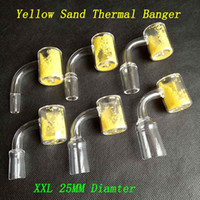 Wholesale changing color nail - 25mm OD XXL Quartz Thermochromic Bucket Domeless Thermal Banger Nails 10mm 14mm 18mm Male Female Yellow Sand Color Changing For Glass Bongs